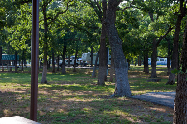 rv sites with trees
